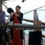 Gaby Bultman suona per la danza sul trabocco di Ruzzier